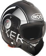 09f5fafb0fb helma na motorku Roof Boxer V8 Grafic černá šedá