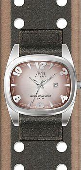93c77983b6f JVD J1071.2. Dámské elegantní hranaté hnědé hodinky JVD steel ...