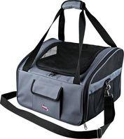 0acd861c523 taška pro psa Trixie cestovní kabela autosedačka pro psy šedo černá  44x30x38 cm