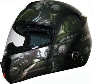 Worker V210 Bluetooth + Interkom crazy skull. Moto přilba ... ef3dff5f17