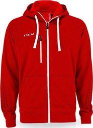 pánská mikina CCM Zip Hood SR červená facbb3eb708
