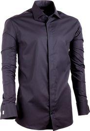 6e362e191e6 pánská košile Assante 20110 prodloužená slim fit černá