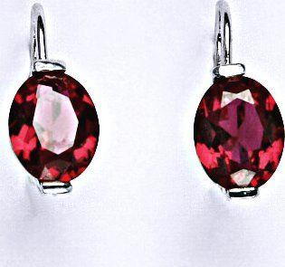 Červené náušnice s kamenem z rubínu • Zboží.cz 14fc6a633b2