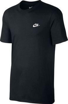 NIKE M Nsw Tee Club Embrd Ftra černé. Jednoduché pánské značkové tričko ... fa4d854606