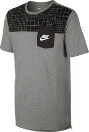 pánské tričko NIKE M Nsw Tee Drptl Av15 šedá černá 171bd3089b6