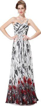 49d8786f360 Letní šifonové šaty Ever Pretty bílé s květy…
