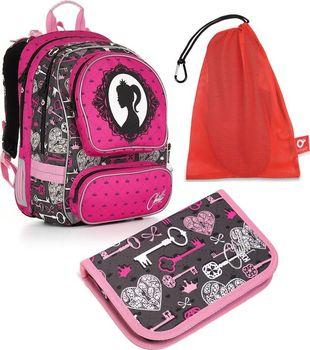 510202935d8 Topgal CHI 875 H Pink set medium. Ideální dvoukomorový batoh pro vaši  princeznu ...