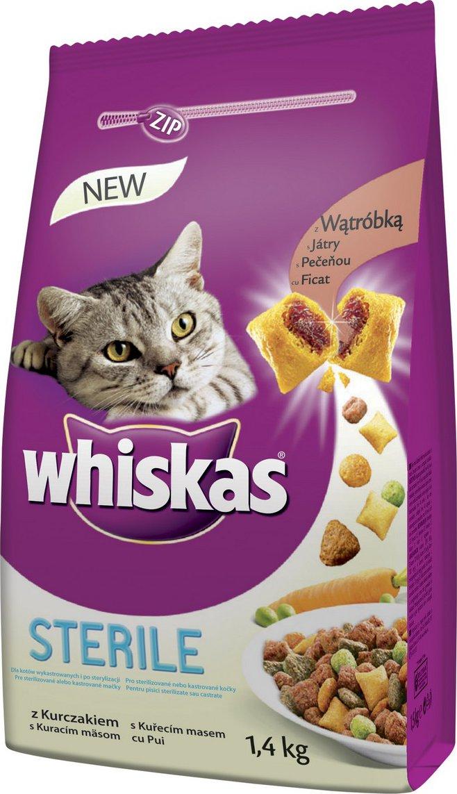 Whiskas Dry Sterile kuřecí od 112 Kč • Zboží.cz 24bc93699ba