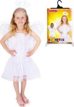8001f7bc3c96 Půvabný karnevalový kostým na motiv anděla nemůže chybět ve tvé karnevalové  sbírce! Balení obsahuje sněhově bílé šaty