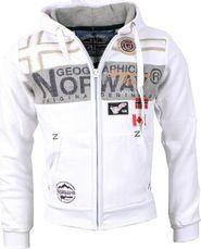 pánská mikina Geographical Norway Garadock bílá c40d78917ca