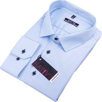70173a0ea05 Native 120503. Modrá pánská košile ...