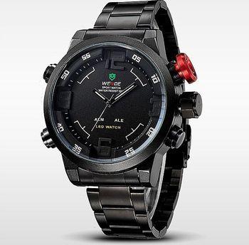 Masivní pánské hodinky s velkým ciferníkem a duálním časem. Kvalitní hodinky  klasického stylu s velkým ciferníkem. fb49c1108b6