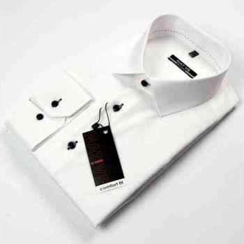 Native 120502. Bílá pánská košile s dlouhým rukávem 862ced531b