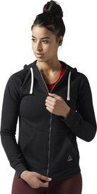eb2bd687b0e dámská mikina Reebok Fleece Full Zip Hoodie Black