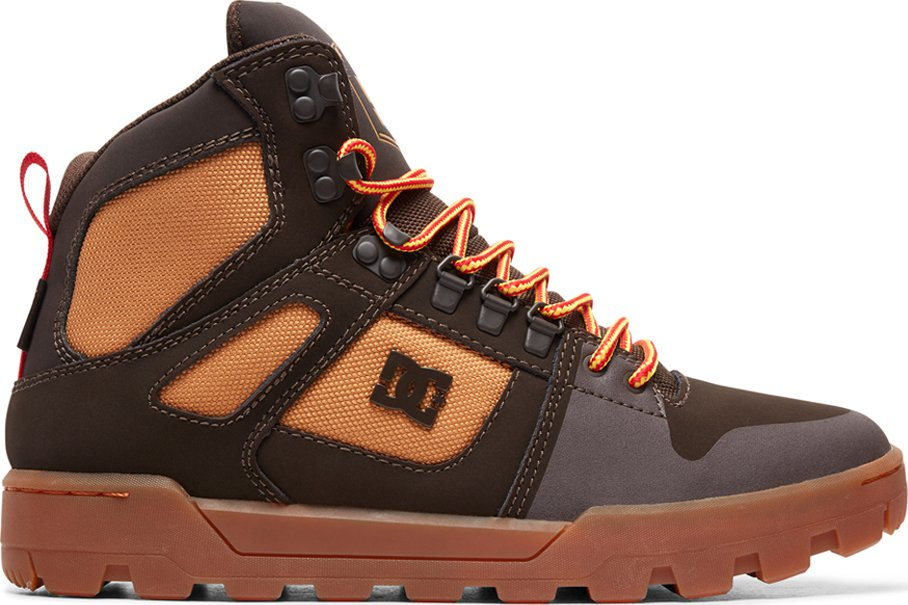 e846dfda03d DC Pure High Top Wr Boot Chocolate Brown 42
