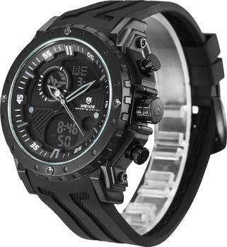 345cecfd0ef Pánské značkové hodinky WEIDE WH-6903-1c. Luxusní značkové masivní hodinky  WEIDE s gumovým řemínkem a duálním časem.