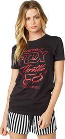 a169ab0fbd66 dámské tričko Fox Throttle Maniac SS Crew Tee Black Vintage M