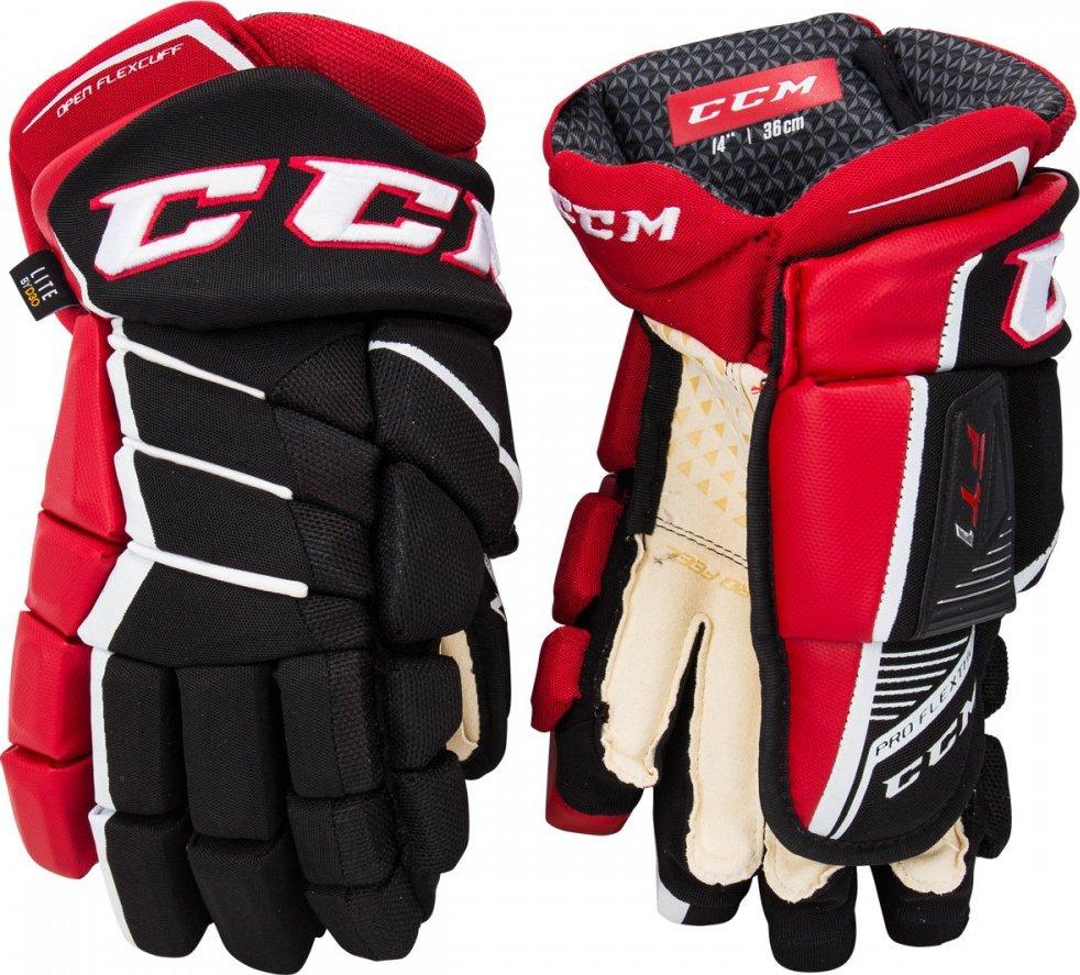 CCM Jetspeed FT1 JR rukavice černé bílé 2018 19 12