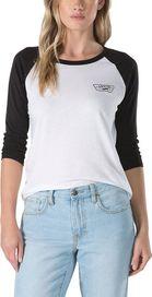 856331ea1a5 dámské tričko VANS Full Patch Raglan dámské tričko bílé
