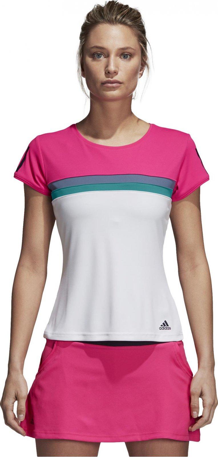Adidas Club dámské tenisové tričko růžové od 590 Kč • Zboží.cz 577b6af2f53