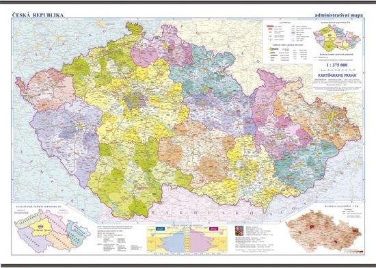 Ceska Republika Skolni Nastenna Administrativni Mapa 1 375 Tis