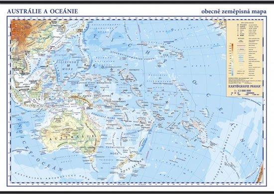 Australie A Oceanie Skolni Nastenna Zemepisna Mapa 1 13 Mil 136 X