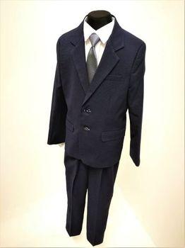 b96b69d1f2 Chlapecký oblek modrý vzorek SLIM (chlapecký…