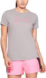 e4e203eb10f7 dámské tričko Under Armour Graphic Big Logo Classic Crew šedé