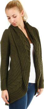 Glara Dámský pletený svetr bez zapínání… 0db2e74bad