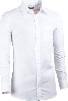 Pánská luxusní košile v bílé barvě pro muže štíhlého vzrůstu je vhodná jako  svatební. Košile Assante má ultra vypasovaný střih (slim fit). 9879536110