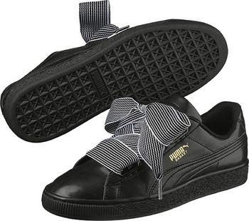 PUMA Basket Heart W Black 38. Černé dámské volnočasové boty ... 307ddf3054