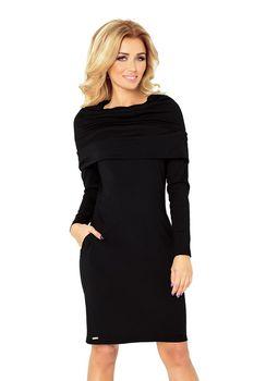 266af773e03 Numoco 131-1 černé. Černé dámské šaty ...