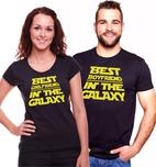 d667e52b432 Trička pro páry - The best boyfriend   girlfriend in the galaxy