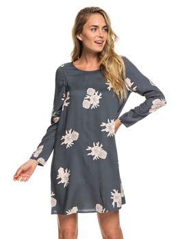 76fcbecdf336 Dámské květované šaty Roxy Seaside Sense Turbulence Rose And Pearls.. Šaty  jsou s dlouhými rukávy.
