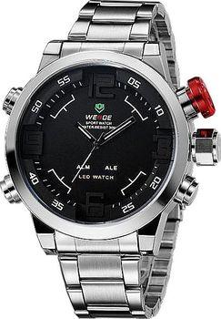 Pánské značkové hodinky Weide WH-2309. Hodinky se quartz a LED systémem 7967580eabe