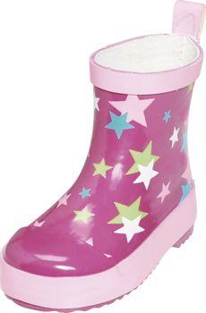 358c528a1f3 Dětské baby holinky Playshoes růžové hvězdy