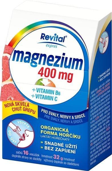 c94b91c73 Revital Magnezium 400 mg + vitamin B6 + vitamin C 16 sáčků od 76 Kč |  Zboží.cz