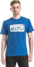 pánské tričko Meatfly Carplate A Blue 3c361790a0