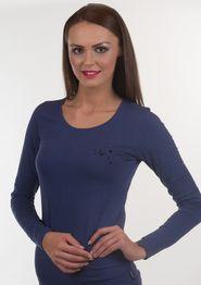 dámské tričko Emporio Armani 163378 6A263 tmavě modré c57a1f892b2