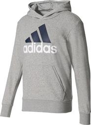 95a2bac16f8 pánská mikina Adidas Essentials Linear Pullover Hoodie Medium Grey Heather