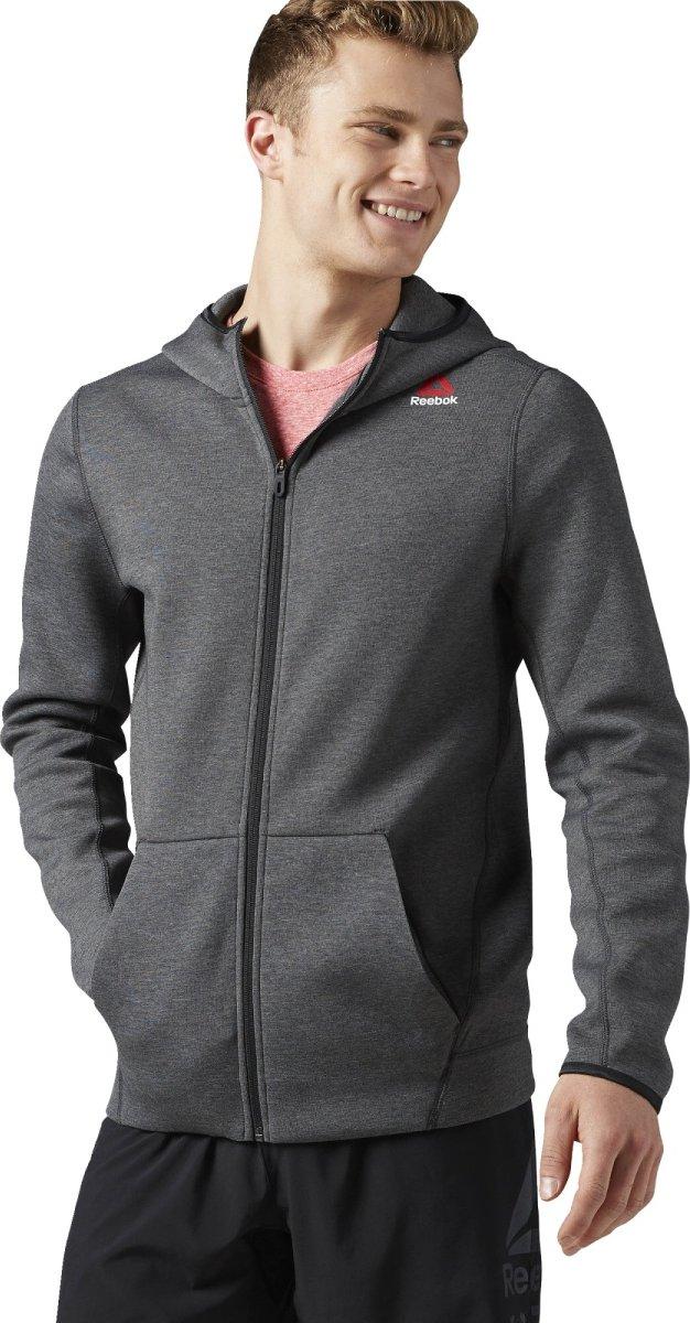 Reebok Quik Cotton Full Zip Hoodie šedá od 1 140 Kč • Zboží.cz 9e60c353e5