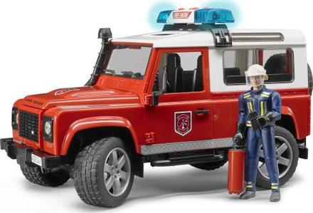 Bruder 2596 Land Rover Defender Hasičské auto s figurkou hasiče