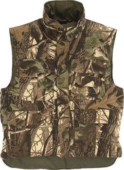 39744df476a1 Víceúčelová zateplená vesta s prodlouženým zádovým dílcem pro lepší ochranu  zad a komfortnější pohyb. Má zapínaní na masivní zdrhovadlo