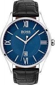 Šedé stříbrné hodinky Hugo Boss s vodotěsností do 49 m • Zboží.cz dd381b76afb