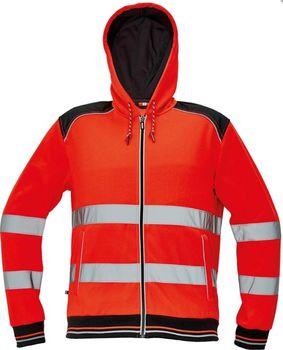 Červa Knoxfield Hi-Vis červená reflexní mikina s kapucí od 1 164 Kč ... a6c93d13d6