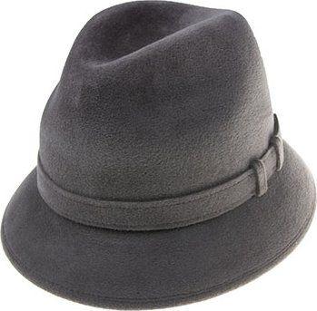 2a5e6cb23ba Tonak Luxusní plstěný klobouk šedá