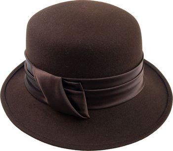 3b38a3b6841 Tonak Dámský plstěný klobouk tmavě hnědá