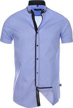 Carisma 9073 světle modrá. Pánská košile s krátkým rukávem střihu slim fit  ... c20507d072