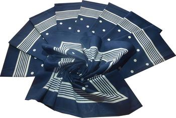 Výrobce Bavlněný šátek velký modrý s puntíky 19ece95d33