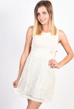 ea7ae38f3272 Picture Eva off white plesové šaty krátké - M